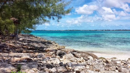 Ocean blues in the Bahamas