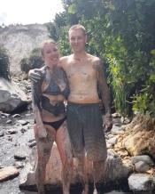 Mud bath in St. Lucia