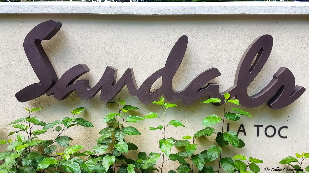 sandals regency la toc entrance sign