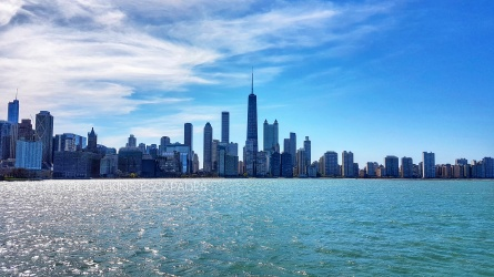 Seeing the Chicago Skyline from the Lake Tour
