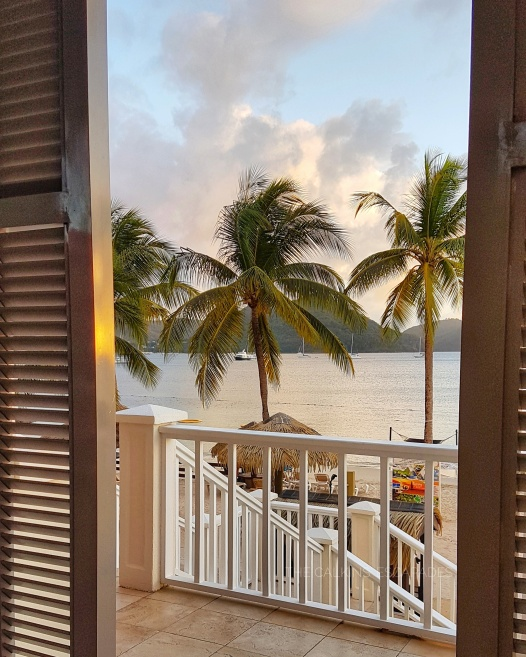 Looking out from our private cabana in St. Lucia
