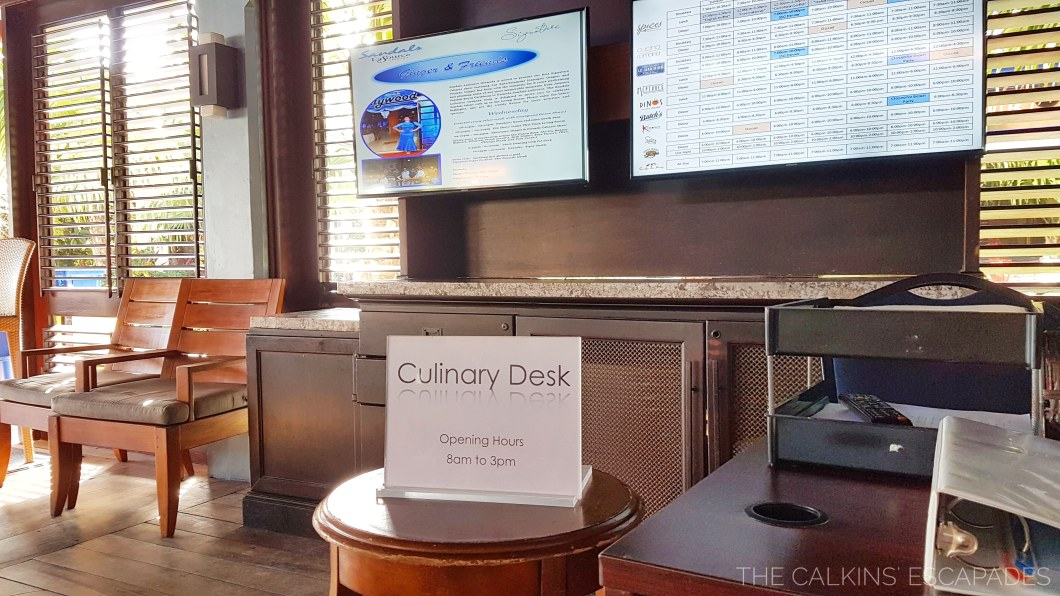 Culinary Desk area at Sandals Grenada