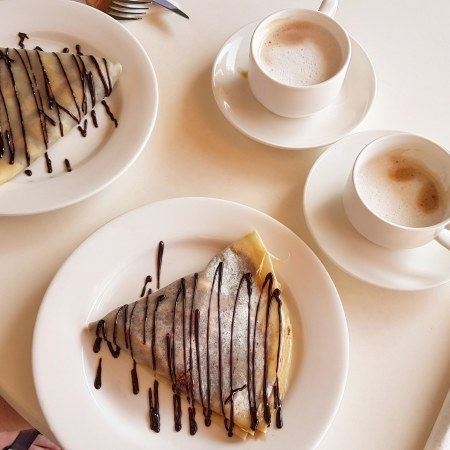 crepes and coffee